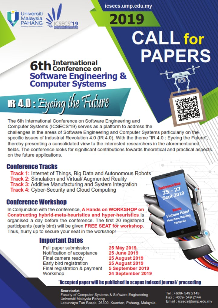 6th International Conference on Software Engineering & Computer