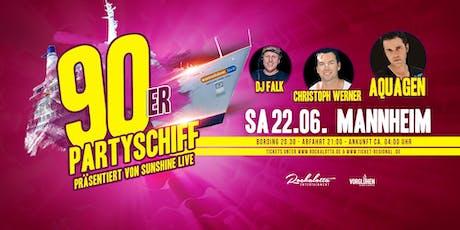 """90er Partyboot mit AQUAGEN """"live"""" DJ Set - Mannheim Tickets"""