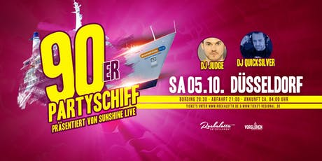 "90er Partyboot mit DJ Quicksilver ""live"" DJ Set - Düsseldorf Tickets"