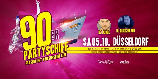 "90er Partyboot mit DJ Quicksilver ""live"" DJ Set - Düsseldorf"