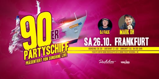 """90er Partyboot mit Mark Oh """"live"""" DJ Set - Frankfurt"""