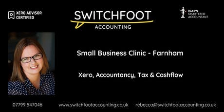 Small Business Growth Clinic - Farnham - Xero, Accountancy, Tax & Cashflow! tickets