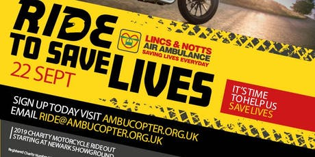 Ride To Save Lives 2019 tickets