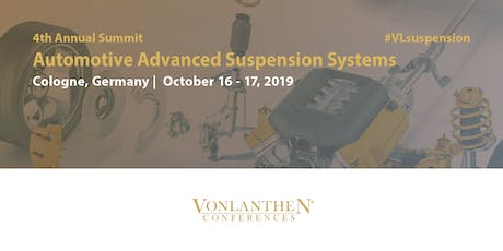 4th Annual Automotive Advanced Suspension Systems Summit Tickets