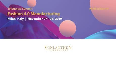 Fashion 4.0 Manufacturing Summit biglietti