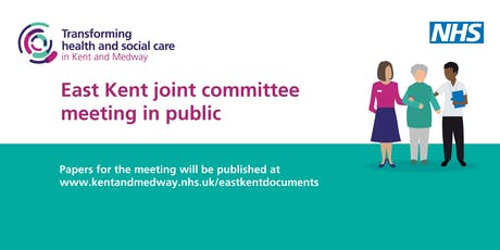 East Kent joint committee meeting in public – August (moved from 25 July) tickets