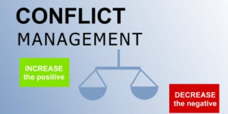 Conflict Management Training in Boston MA on  September 21st 2019 (Weekend) tickets