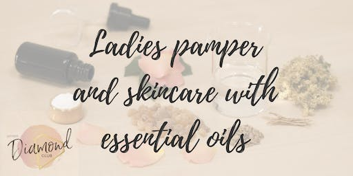 Ladies pamper and skincare with essential oils