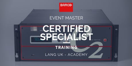 19th - 21st NOV 2019 - BARCO - Event Master Training - Certified Specialist  tickets