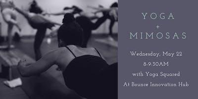 Yoga + Mimosas at Bounce