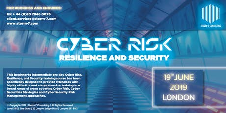 Cyber Risk: Resilience and Security tickets