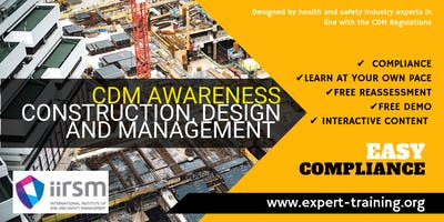 Construction Design and Management (CDM) Awareness Course/ IIRSM Approved