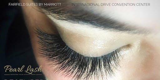 Volume Eyelash Extension Training by Pearl Lash Orlando August, 2019