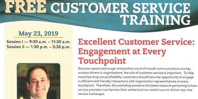 FREE CUSTOMER SERVICE TRAINING, May 23, 2019