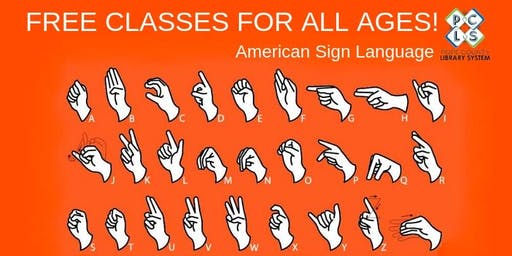 Free American Sign Language Classes for all ages