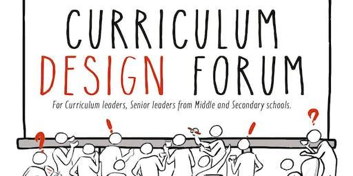 Curriculum Design Forum