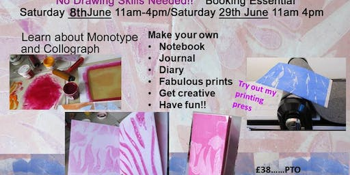 Printmaking Workshop No experience needed Creative monotype and fun