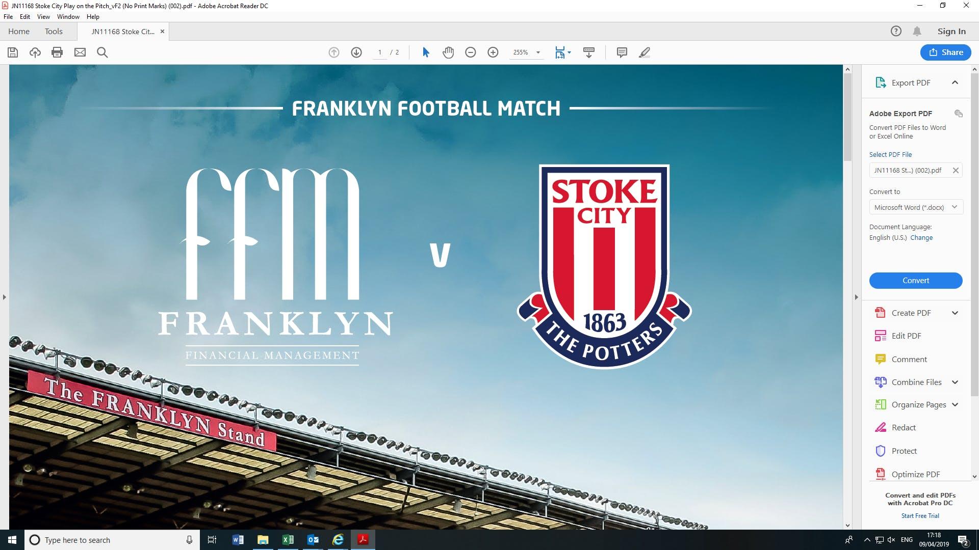 Franklyn Football Match
