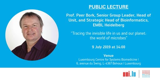 Public Lecture: Prof. Peer Bork, European Molecular Biology Laboratory Heidelberg