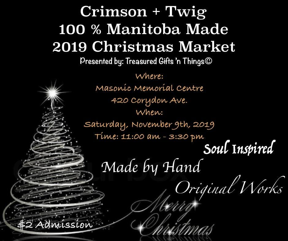 Crimson + Twig 2019 Christmas Market - All Local Handmade Crafts/Gifts/Food