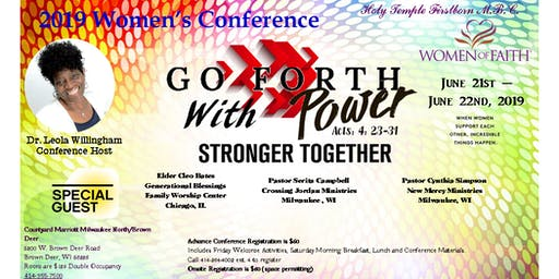 2019 Women's Conference Go Forth With Power: Stronger Together