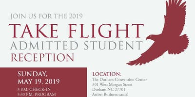 2019 Take Flight: Admitted Student Reception