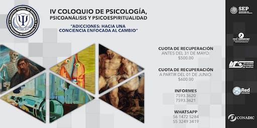 IV COLOQUIO DE PSICOLOGÍA, PSICOANÁLISIS Y PSICOESPIRITUALIDAD