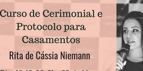 Curso de Formação para Cerimonialistas Brasília - DF ingressos
