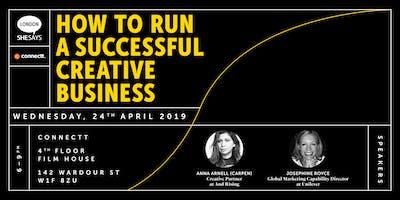 How to run a successful creative business