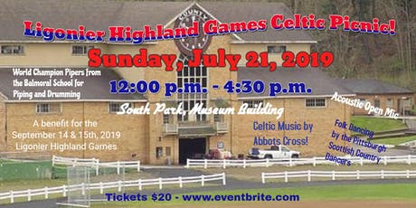 2019 Ligonier Highland Games Preview Picnic with Scottish Entertainment tickets