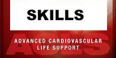 AHA ACLS Skills Session September 28, 2019 from 3 PM to 5 PM at Saving American Hearts, Inc. 6165 Lehman Drive Suite 202 Colorado Springs, Colorado 80918.