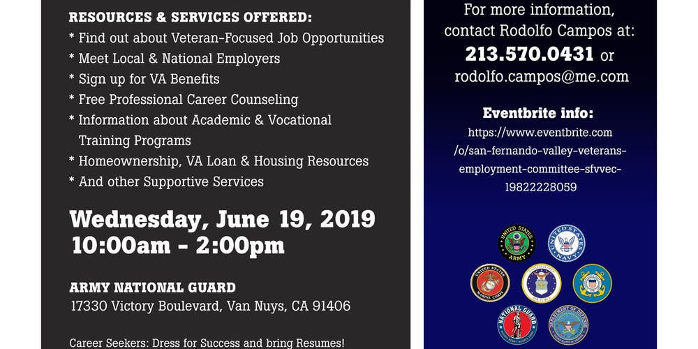 02cc167f1e82fa SFVVEC Annual Veterans   Military Families Career   Resource Expo Tickets
