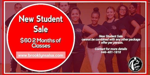 SALSA Dance Classes NEW STUDENT SALE -BKLYN Starts July 6 @ 1:30pm