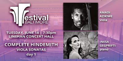 FESTIVAL BALTIMORE Concert 3: COMPLETE HINDEMITH viola sonatas, day 1