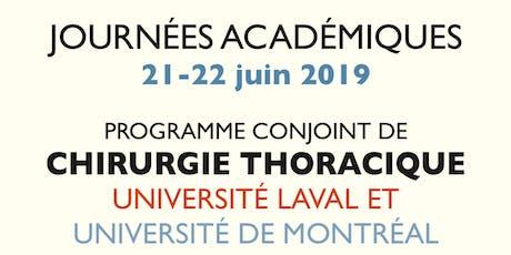 Journées académiques 2019 du programme conjoint de Chirurgie Thoracique billets