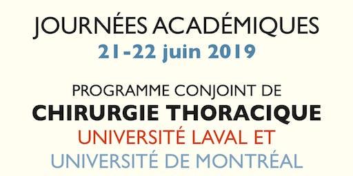 Journées académiques 2019 du programme conjoint de Chirurgie Thoracique