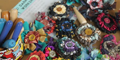 Rag Rug Brooches Workshop at The Craft Barn