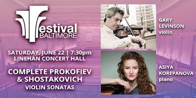 FESTIVAL BALTIMORE Concert 5: PROKOFIEV & SHOSTAKOVICH violin sonatas