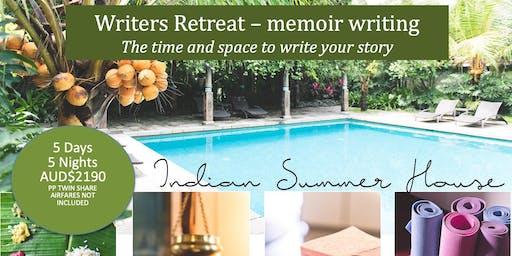 Writers' Retreat  I  Memoir Writing  I  Kerala India