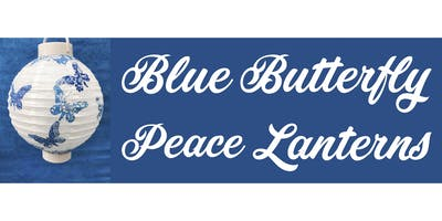 Blue Butterfly Peace Lanterns