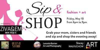 Shop and Sip - Art + Fashion