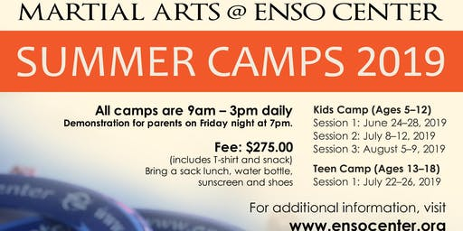 Martial Arts Kid's Summer Camp at Enso Center - July 8-12, 2019