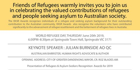 Refugee & Asylum Seeker Recognition Awards 2019 tickets