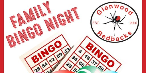 Glenwood Redbacks Family Bingo Night