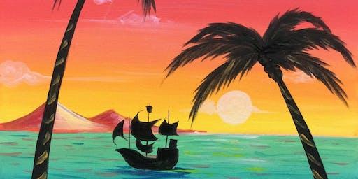 Paradise (2hr Paint & Sip) - BYO Food & Drink