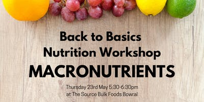Back to Basics Nutrition Workshop: Macronutrients