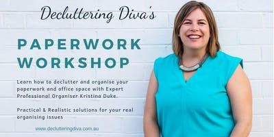 Decluttering Diva - Paperwork Workshop 27th June 2019