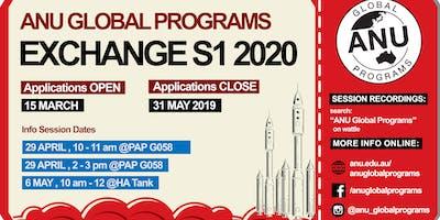 Semester 1 2020 Exchange Info Session 2B: 2 PM START