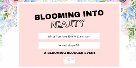 BLOOMING INTO BEAUTY tickets