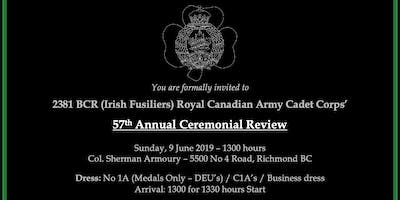 2381 BCR (Irish Fusiliers) RCACC 57th Annual Ceremonial Review